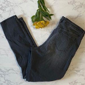 LC Lauren Conrad gray faded skinny jeans 18 long